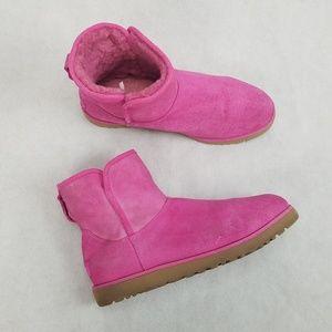 UGG Classic Sheepskin Raspberry Pink Short Boots